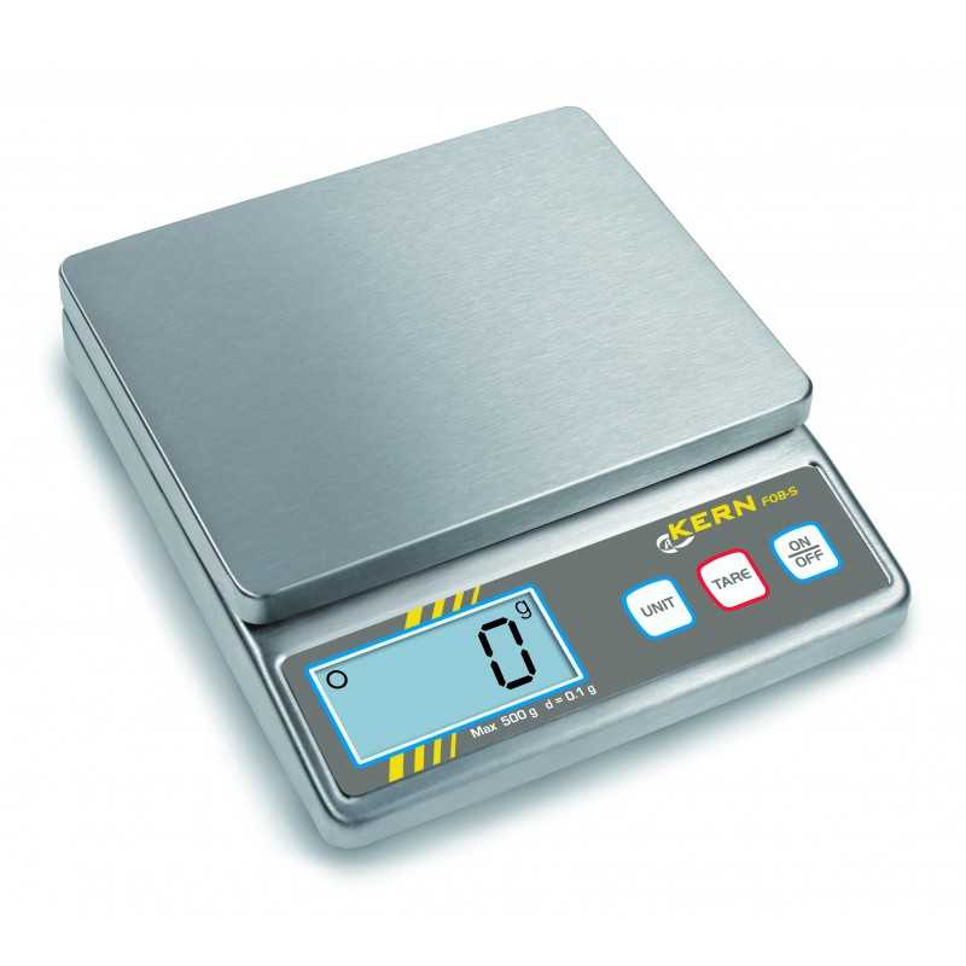 Balance de table KERN FOB 5K1S en acier inoxydable