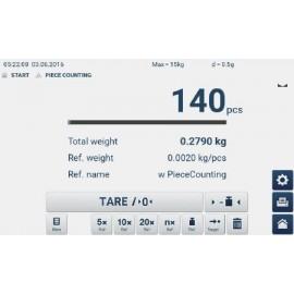 Báscula de plataforma KERN IFT 10K-3M Easy-Touch