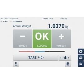 Bilancia a piattaforma KERN IFT 30K-3M Easy-Touch