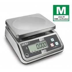 Stainless steel bench scale KERN FFN 25K10IPM