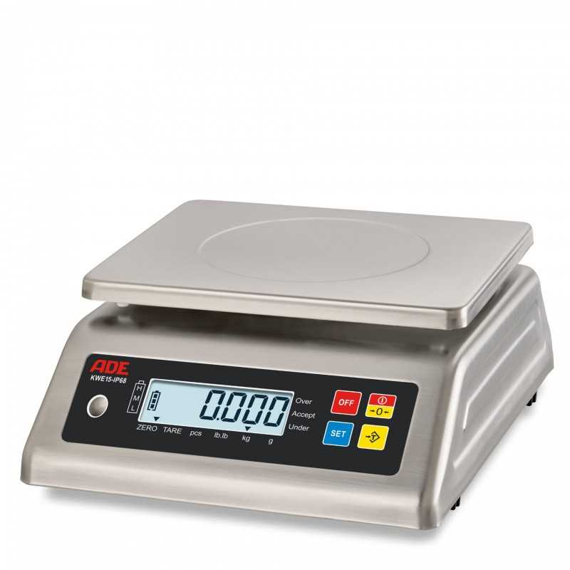 Stainless steel compact scale ADE KWE3-IP65