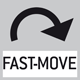 Fast move: the total length of travel can be covered by a single lever movement.