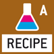 Recipe level A: Separate memory for the weight of the tare container and the recipe ingredients (net total).