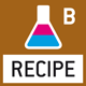 Recipe level B: Internal memory for complete recipes with name and target value of the recipe ingredients. User guidance through displays.