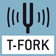 Tuning fork principle: A resonating body (like a tuning fork) is electromagnetically excited, causing it to oscillate. The measured value is calculated via the change in frequency correspon