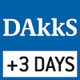 DAkkS calibration possible. The time required for DAkkS calibration is specified in the pictogram.