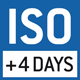 ISO calibration possible. The time required for ISO calibration is specified in the pictogram.