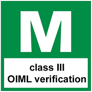 EC type approval: Verification class: III, with certificate